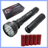 Rechargeable T6 18 LED 22000lm High Power Aluminium Flashlight