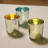 Tea Light Electroplate Glass Candle Holders for Home Decor