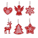 Christmas Ornaments Wooden Tree Hanging Tags Pendant Embellishments Crafts