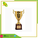 Fashion Promotion Wholesale Custom Metal Craft Fashion Crystal Glass Brass Pewter Alloy Cup Gold Medal Tournament Award Trophy for Souvenir Event Gift (026)