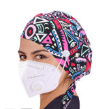 Multi-Color Printed Gourd-Shaped Bouffant Hats Surgical Hats with Sweatband