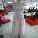 Pink Top Dress Final Random Inspection/ Pre-Shipment Inspection for Lovely Pinky Evening Dress Guangzhou Factory