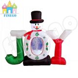 Outdoor 6.5FT Christmas Inflatable Joy Snowman Glob