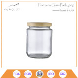 Straight Side Glass Jar with Metal Cap for Food Packing