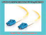 Yellow 3.0mm Fiber Optic LC Zipcord Singlemode SMF Patch Lead Assembly
