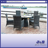 Modern Outdoor Garden Furniture, Round Table & Adjustable Chair Set (J237)