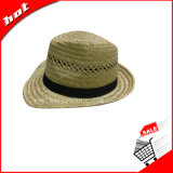Fedora Hat Hollow Straw Hat, Rush Straw Hat Tribby Hat Straw Hat