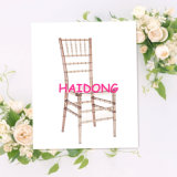 Champagne Color Crystal Resin Chiavari Chair in Wedding