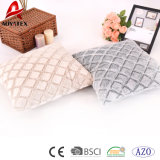 PV Fleece Solid Wholesale Custom Decorative Square Cushion