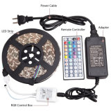 SMD 5050 RGB LED Strip 12V 60LEDs IP65 LED Strip Light with 44 Key IR Remote Controller and DC12V Power Adapter