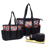 5 PCS Organizer Adult Baby Diaper Tote Bag with Bottle Warmer