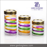 Colored 800ml/1300ml/1700ml/Large Storage Glass Jar Set with Customized Design