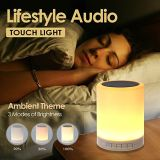 Eco-Friendly Wake up Light Bluetooth Speaker Hand Touch Light Control