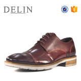 New Style with Emboss Genuine Leather Shoes for Men Fashion
