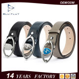Wholesale Price Handmade Men's Leather Thread Metal Buckle Belt