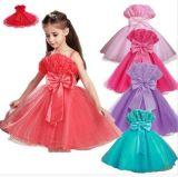 100-160cm Size Wholesale Cheap High Quality Long Evening Wear Baby Kids Girl Children Party Dress