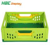 Supermarket Collapsible Hard Plastic Storage Fruit Foldable Vegetable Transport Basket Bins Crate with Holes for Sale