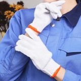 Cheap White Yarn Acrylic Hand Household Cleaning Knitted Cotton Gloves