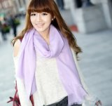 Worsted Merino Wool Scarf in Solid Color (12-Br020102-2.5)