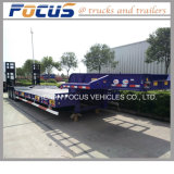 Price of 60tons Hydraulic Extendable Utility Lowbed Truck Semi Trailer