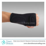 Black Neoprene Wrist Guard Support with Splint