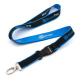 Custom Polyester Woven Neck Lanyard Cotton Tie Down Shoulder Combination