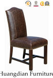 High Quality Antique Leather Chair Restaurant Wooden Furniture (HD479)