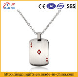 China Supplier Metal Name Dog Tag with Print Diamonds Ace