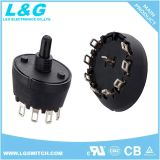 Power Sp2t Sp3t Sp4t Sp5t Sp6t Sp7t Sp8t Sp10t 2 to 10 Position Selector Rotary Potentiometer Micro Switch