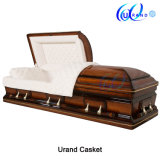 Funeral Wholesale Solid Poplar Waterproof Bottom Coffin and Casket