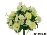 Artificial/Plastic/Silk Flower Rose/Daisy Mixed Bush (2918105-19)
