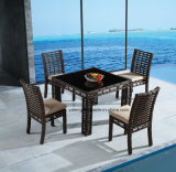 Hotel Pool Side Aluminum Outdoor Rattan Chair & Table Dining Set (YT607)