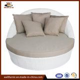 Backyard Outdoor Rattan Round Daybed with Waterproof Cushion Wf050053