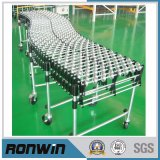 Extendable Steel Skate Wheels Conveyor for Cartons and Boxes Conveying