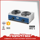 Stainless Steel 2-Hot Plate Electric Cooker for Hotel Equipments (HRQ-2)