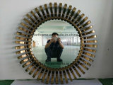 Wholesale Home Decor Round Ornate Wall Mirror with Metal Frame