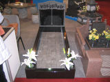 Natural Stone Black Granite Tombstone SF-T-038 for Cremetery Garden