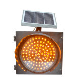 Yellow Solar Flashing Warning Light