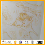 Artificial Marble Onyx White/Yellow Artificial Stone for Flooing Tiles
