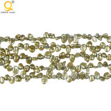 "Green Color Keshi Pearl in 16"" Strand Wholesale"