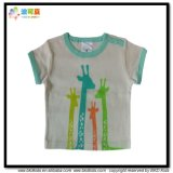 Round Neck Baby Clothes Short Sleeve Kids Apparel T-Shirt