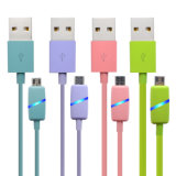1m LED Light Micro Data Charger USB Cable for Samsung Android V8