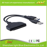 "USB 3.0 to SATA 22pin Data Enhanced Power Cable Adapter for 2.5"" Inch"