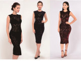 Women Sexy Sequins Butterfly Lace Bodycon Evening Party Mother of The Bride Dress Special Occasion