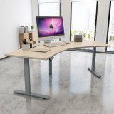 Office L Desk with Corner Shaped Tbaletop
