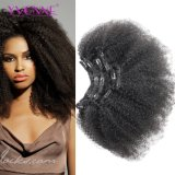Yvonne Clip in Human Hair Extension/ Afro Curly Clip in Hair Extension