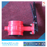 PN16 dn100 safety fire protection grooved butterfly valve BCT-GBFV-2