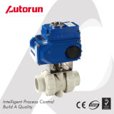 Pph/PVC Ball Valve with Electrical Actuator