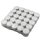 Home Decoration 100% Paraffin Wax 50packwhite Color Tealight Candles with Best Price