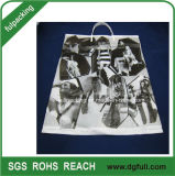 Plastic Shopping Bag with Strong Handle, Promotional Handbags Customized